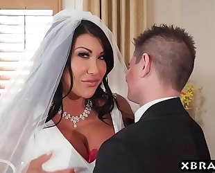 Huge whoppers bride cheats on her wedding day with the most good stud