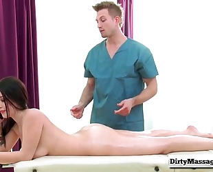 One thick & soaked client with noelle easton from obscene masseur-part02