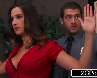 Bossy whore ashley adams pounded by 2 security guards