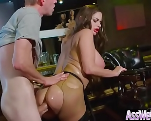 (cathy heaven) lewd slutty wife with large oiled booty acquire it hard in her behind clip-14