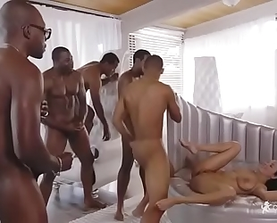 Anissa kate and 6 dark ramrods