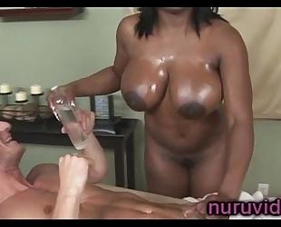 Busty ebon jada fire gives outstanding rod massage
