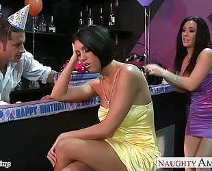 Busty sweethearts dylan ryder and jayden jaymes sharing a man at party