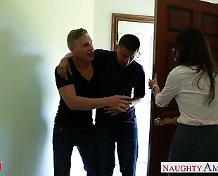 Nasty mommy india summer receives trimmed love tunnel jizzed
