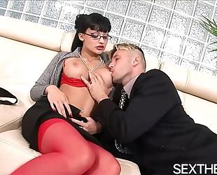 Aletta ocean gives oral sex then hardcore sex
