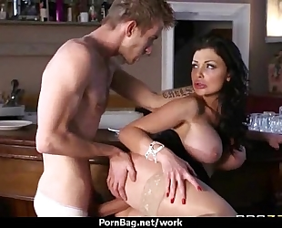 Big titted playgirl acquires drilled hard in the office twenty one