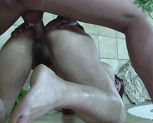 Skanky brunette gets her make-up ruined after hardcore fucking