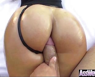 Big moist oiled butt white wife (kelsi monroe) like anal hard style team fuck video-17