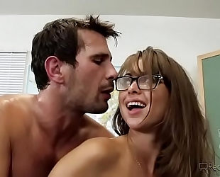 Busty teacher riley reid receives drilled in classroom -mobilecams.cf