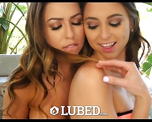 Lubed - lubed up dark brown twins riley reid and melissa moore drilled