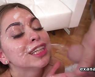 Riley reid takes facial after unfathomable anal pounding
