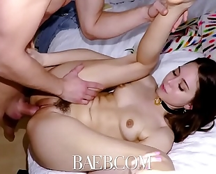 Baeb brunette hair sweetheart riley reid receives her love tunnel drilled on 420