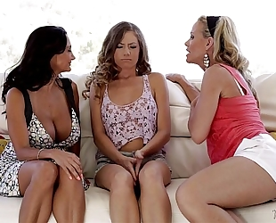 Kendall, ava addams and simone sonay at mommy's dark wang strumpets