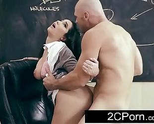 Busty dark brown student karlee grey wishes her teacher