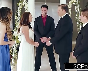 Stunning cheating bride angela white can't live without anal