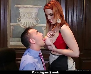 Busty sweetheart is despairing for a raise and bonks her boss and earn it 4