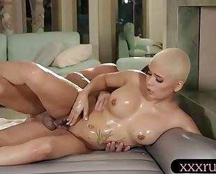 Huge zeppelins masseuse drilled by her client