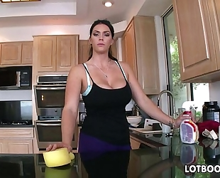 Big gazoo dark brown breasty maid alison tyler acquires drilled