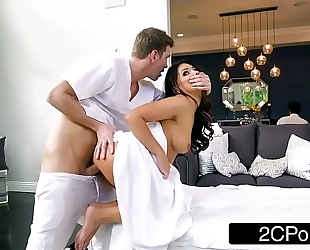 Sneaky white bitch adriana chechik letting masseuse fuck her in the butt