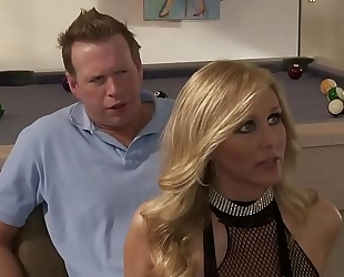 Sexy blond undress slutty wife three-some alexis texas and julia ann