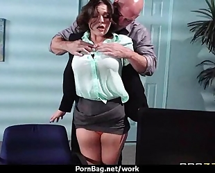 Hottest office fuck with breasty babe 13