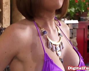Facialized massaged redhead bonks masseur