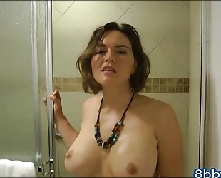 Catching your lascivious step sister in the shower - 8bbw.com