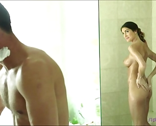 Sexy august ames shaves her wet love tunnel for her bfark